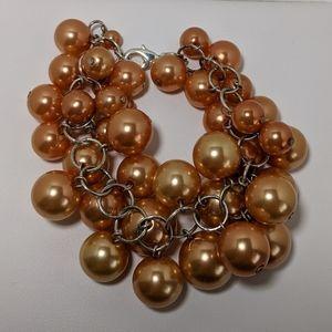 Cluster of faux pearl bracelet